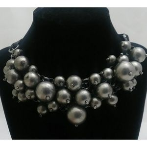 Silvertone Bubble/Bauble Choker
